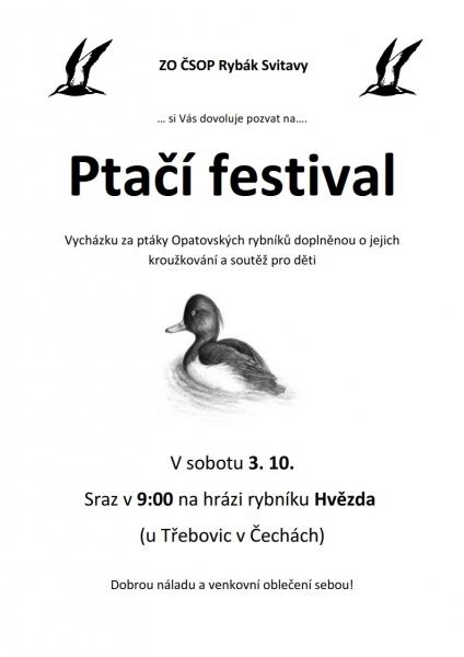 ptaší festival 2020 Opatov